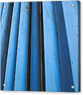 Blue Industrial Pipes Acrylic Print