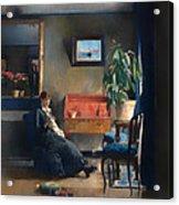 Blue Interior Acrylic Print