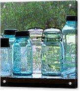 Blue Jars Acrylic Print