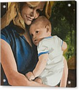 Blue Jean Madonna Acrylic Print