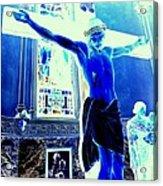 Blue Jesus Acrylic Print
