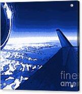 Blue Jet Pop Art Plane Acrylic Print
