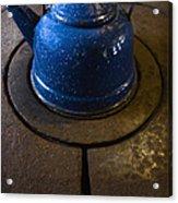 Blue Kettle Acrylic Print
