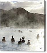 Blue Lagoon Geothermal Spa Acrylic Print