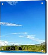 Blue Lake And Green Hills Acrylic Print