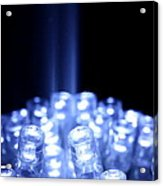 Blue Led Lights With Light Beam Acrylic Print
