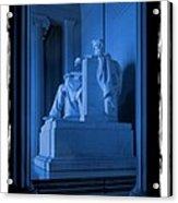 Blue Lincoln Acrylic Print