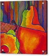 Blue Line Pears Acrylic Print by Blenda Studio