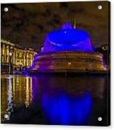 Blue London Fountain Acrylic Print