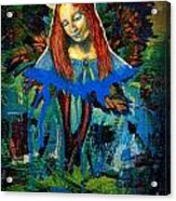 Blue Madonna In Tree Acrylic Print