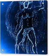 Blue Male Angel Acrylic Print