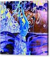 Blue Maqical Sensualism Acrylic Print