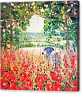 Blue Mare's English Summer Garden Acrylic Print