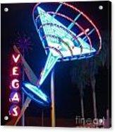 Blue Martini Glass Las Vegas Acrylic Print