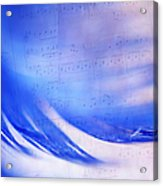 Blue Marvel. Lighten Your Day With Music Acrylic Print
