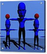 Blue Men Acrylic Print