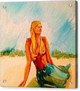 Blue Mermaid Acrylic Print