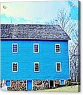 Blue Mill Historic Walnford Mill  Acrylic Print