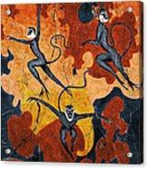Blue Monkeys No. 8 - Study No. 1 Acrylic Print