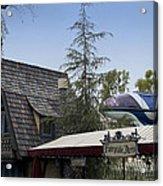 Blue Monorail Fairytale Arts Disneyland Acrylic Print