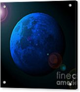 Blue Moon Digital Art Acrylic Print by Al Powell Photography USA