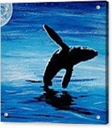 Blue Moon II - Right Side - Acrylic Acrylic Print