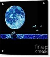 Blue Moon Acrylic Print by LCS Art