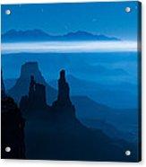 Blue Moon Mesa Acrylic Print by Dustin  LeFevre