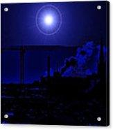 Blue Moon Over Baltimore Acrylic Print