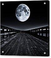 Blue Moon Acrylic Print by Paulina Szajek