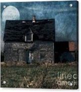 Blue Moon Rising Acrylic Print
