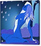Blue Moon Rising Acrylic Print by Sydne Archambault