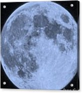 Blue Moon Up Close And Personal Acrylic Print