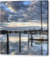 Blue Morning Reflections Acrylic Print by Vicki Jauron