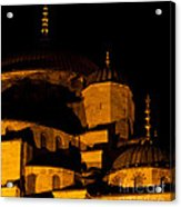 Blue Mosque At Night 02 Acrylic Print