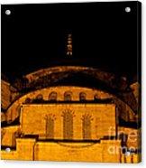 Blue Mosque At Night 03 Acrylic Print