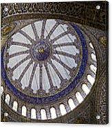 Blue Mosque Dome Acrylic Print
