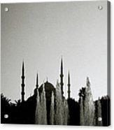 Blue Mosque Dusk Acrylic Print