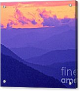 Blue Mountain Afterglow Acrylic Print