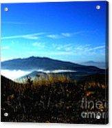 Blue Mountain Landscape Umbria Italy Acrylic Print
