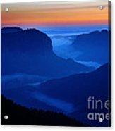 Blue Mountains Dawn Acrylic Print