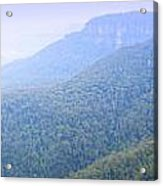 Blue Mountains Panorama Acrylic Print