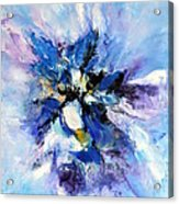 Blue Mystery Acrylic Print by Isabelle Vobmann