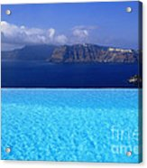 Blue On Blue Acrylic Print by Aiolos Greek Collections