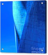 Blue On Blue Cropped Version Acrylic Print