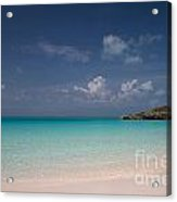 Blue On Blue On Sand Acrylic Print