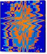 Blue Orange Abstract Acrylic Print
