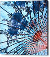 Blue Ornamental Thai Umbrella Acrylic Print