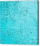 Blue Paint Background Grungy Cracked And Chipping Acrylic Print
