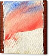 Blue Paint Acrylic Print